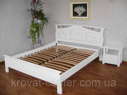 """Кровать с мягким изголовьем """"Миледи"""". Массив - сосна, ольха, береза, дуб., фото 2"""