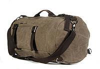 Стильный городской рюкзак-сумка светло-коричневый