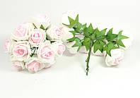 Розы 2.5 см с белым