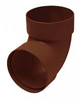 Отвод двухмуфтовый 87° RainWay 75мм коричневый