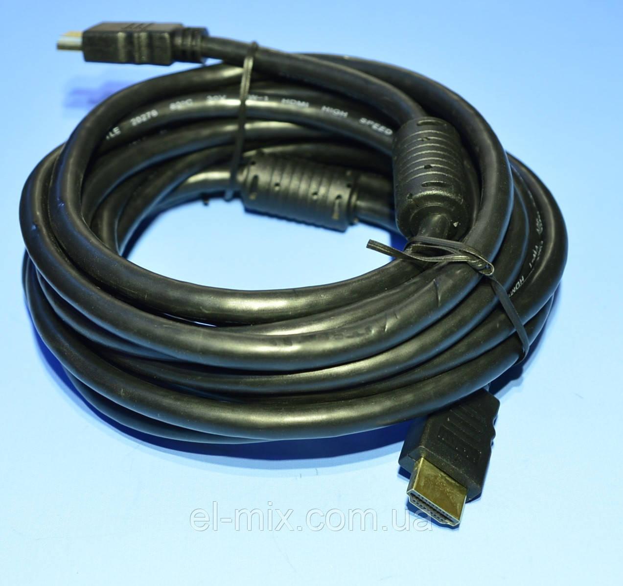 Шнур шт.HDMI - шт.HDMI  KPO3703-5.0 с фильтрами 5.0м