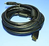Шнур шт.HDMI - шт.HDMI  KPO3703-5.0 с фильтрами 5.0м, фото 1