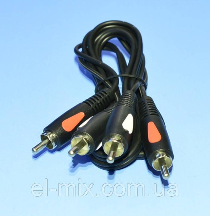 Шнур 2шт.RCA - 2шт.RCA Cabletech Eco-Line 1.0м  KPO4001-1.0
