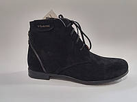 Женские демисезонные черные замшевые стильные ботинки 36 Violetti