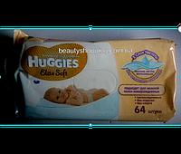 Huggies Elite Soft детские влажные салфетки  64 штуки