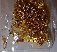 Замок-закрутка цвет золото 14мм