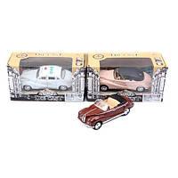 Модель ретро в коробке 4307-11 (жел, 12,5см, откр двери, 4вида (2 вида-звук, свет, 2 вида-муз, свет), в кор-ке