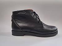 Кожаные женские черные демисезонные ботинки 38 Violetti