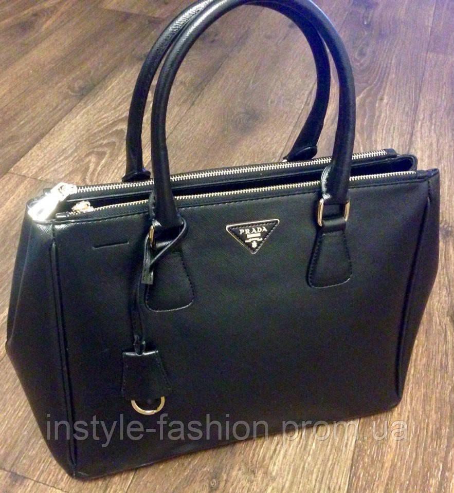 faf84c4f75b9 Сумка Prada черная на молнии: купить недорого копия продажа, цена в ...