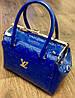 Сумка Louis Vuitton синяя, лаковая