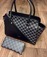 Сумка Louis Vuitton черная с серым