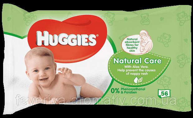 Детские влажные салфетки Huggies Natural Care 56шт.