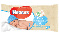 Детские влажные салфетки Huggies Pure 56шт.