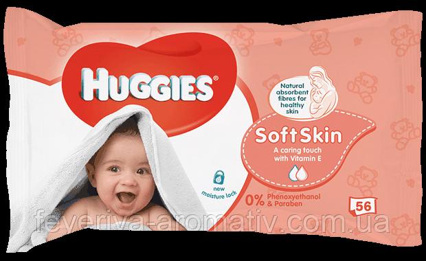 Детские влажные салфетки Huggies Soft Skin 56шт.