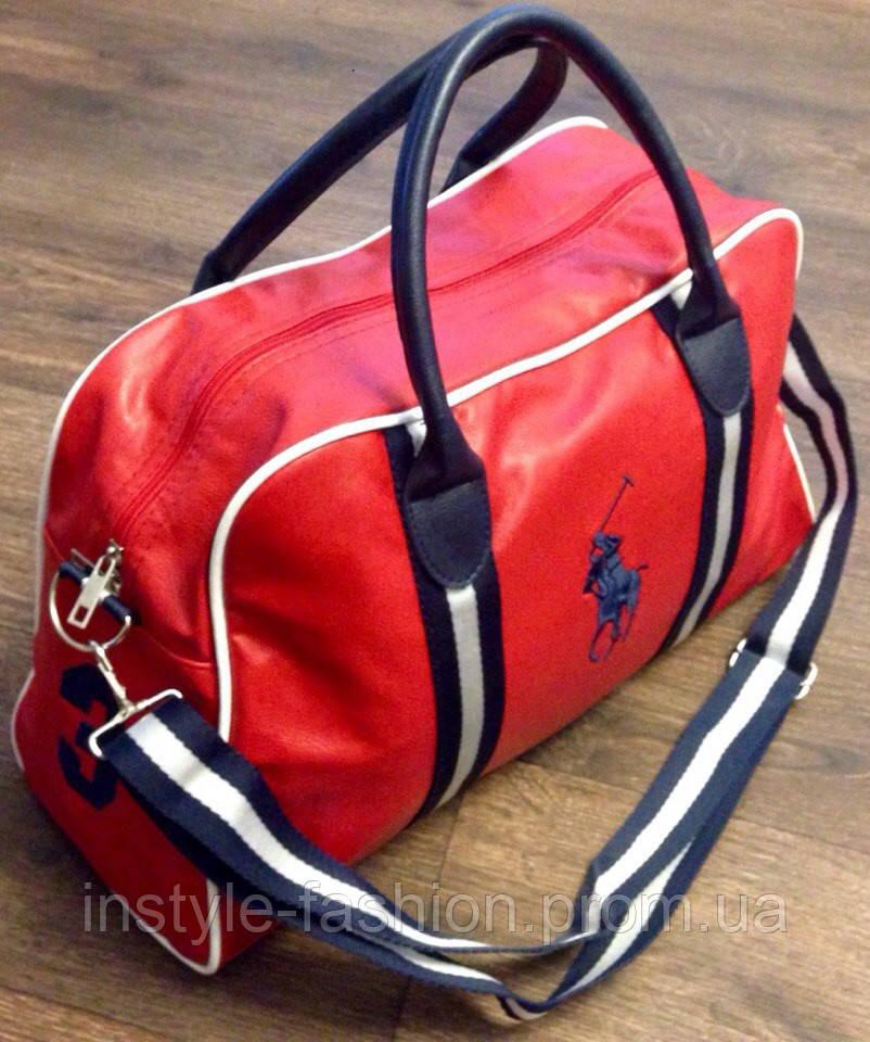 d7e5e9bf020f Сумка брендовая дорожная Polo красная, для спорта, спортивная, для зала