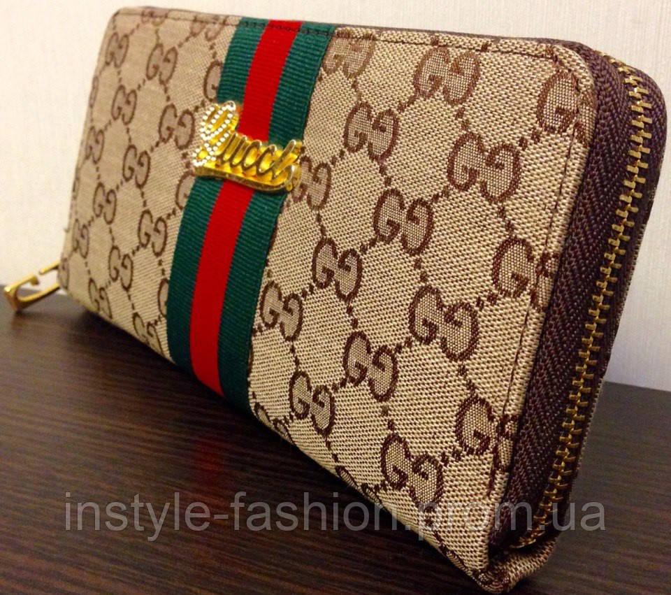 2452653cffea Кошелек Gucci женский бежевый брендовые кошельки: купить недорого ...