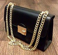 Сумка Gucci черная на цепочке