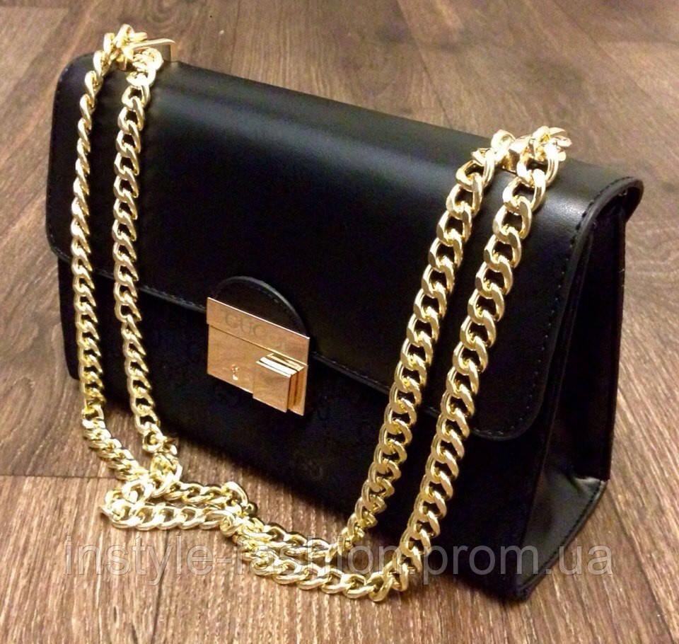 4f73444e8786 Сумка Gucci черная на цепочке  купить недорого копия продажа, цена в ...