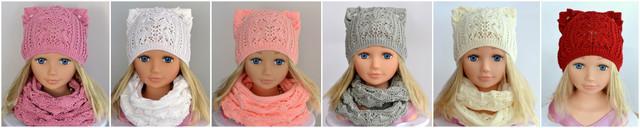 шапка ажурная для ребенка