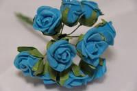5632-1-4-1  синий упаковка 10 букетов (100шт)