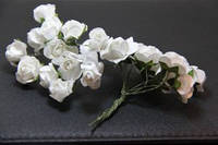 Букет 5634-1-10   упаковка 12 букетов белый