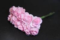 Букет 5634-1-10   упаковка 12 букетов розовый