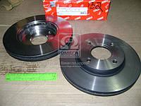 Диск тормозной FORD FIESTA, FOCUS, MAZDA 2, передний, вентилируемый(производитель TRW) DF4036