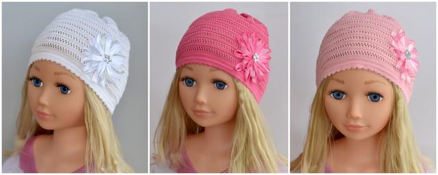 ажурная шапка для девочки