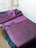 """Натуральная кожа """"Крейзи-хорс"""", самое высококачественное сырье Бычина, цвет бордо"""