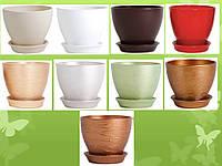 Керамический горшок для цветов Ксения КС 6