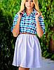 Коттоновое женское платье (London клетка sk), фото 2