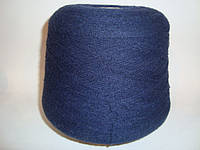 100% акрил, пряжа темно-синего цвета, букле, вес 1.000