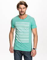 Мужская футболка бирюзовая Nikezer от !Solid в размере L