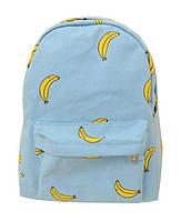 Городской рюкзак в банановый принт