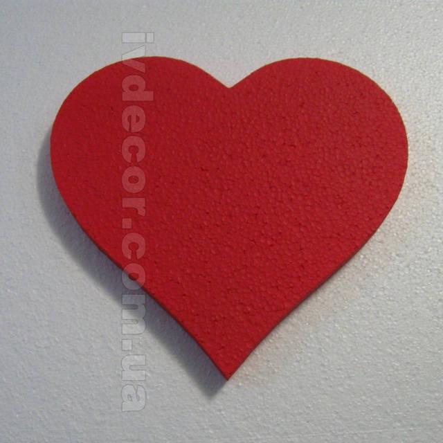Сердце из пенопласта EPS М35 c покраской (№1 из каталога сердец) .Размеры - 20*23*2 см.