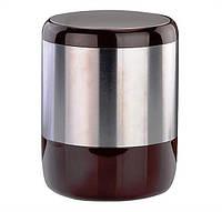 Ведро мусорное коричневого цвета, серия Лима