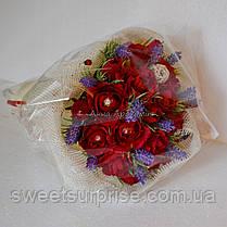 """Ручной букет из конфет """"Бархатные розы"""", фото 3"""