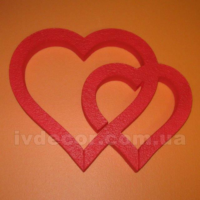 Сердце из пенопласта EPS М35 c покраской (№7 из каталога сердец) .Размеры - 25*32*3 см.