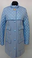 Модное демисезонное пальто батальных размеров (рр 42-54)