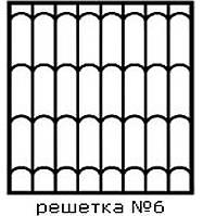 Кованая решетка 6