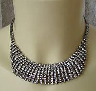 Колье женское модное украшение металл ювелирная бижутерия 5571