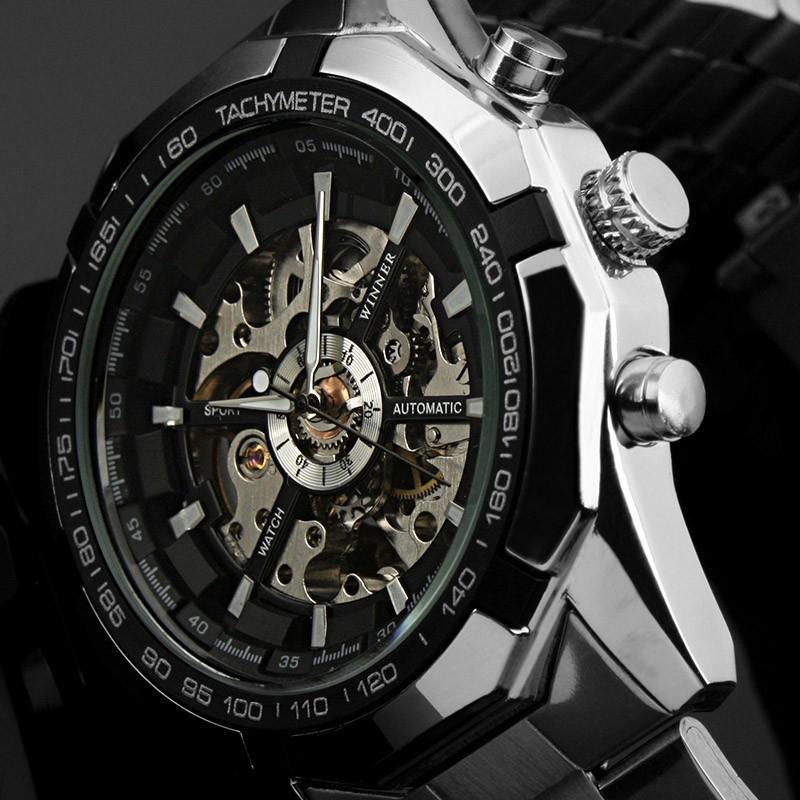 3dedfe02e7d0 Мужские часы-скелетоны Winner 340. Металлические!