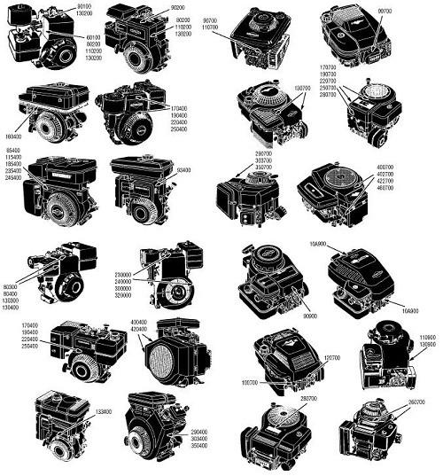 Запасные части к 4-Т двигателям BRIGGS&STRATTON