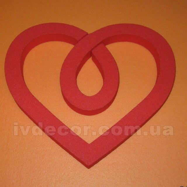 Сердце из экструдированного пенополистирола XPS c покраской (№27 из каталога сердец) .Размеры - 20*18*2 см.