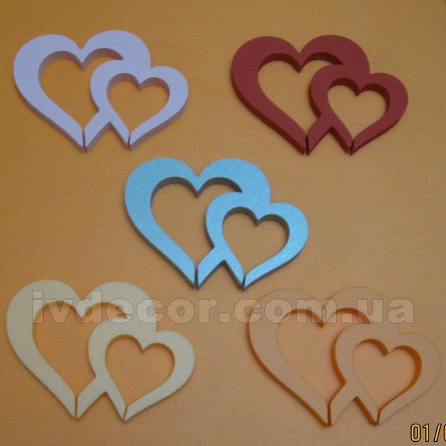 Сердце из экструдированного пенополистирола XPS c покраской (№30 из каталога сердец) .Размеры - 15*20*2 см.