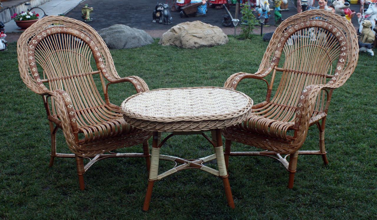 Комплект плетених меблів з лози