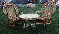 Комплект плетеной мебели из лозы, фото 1