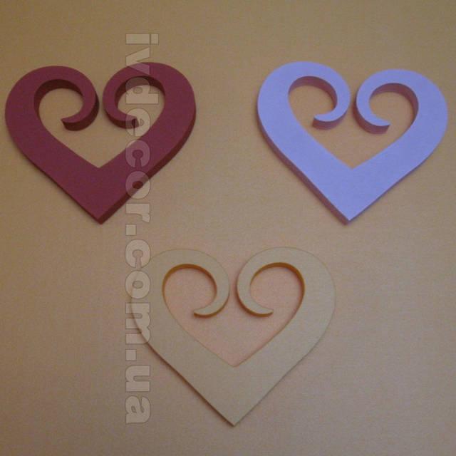 Сердце из экструдированного пенополистирола XPS c покраской (№17 из каталога сердец) .Размеры - 20*17*2 см.