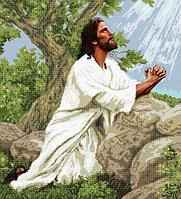 """Вишивка бісером """"Молитва Ісуса"""" 30,5х34,5"""