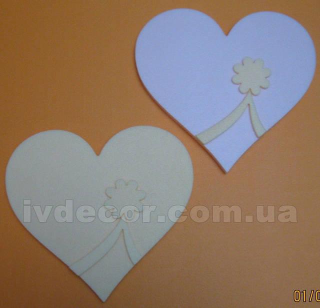 Сердце из экструдированного пенополистирола XPS (№26 из каталога сердец) без покраски.Размеры - 30*2 см.